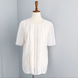 Ann Taylor Short Sleeve Blouse Size Medium